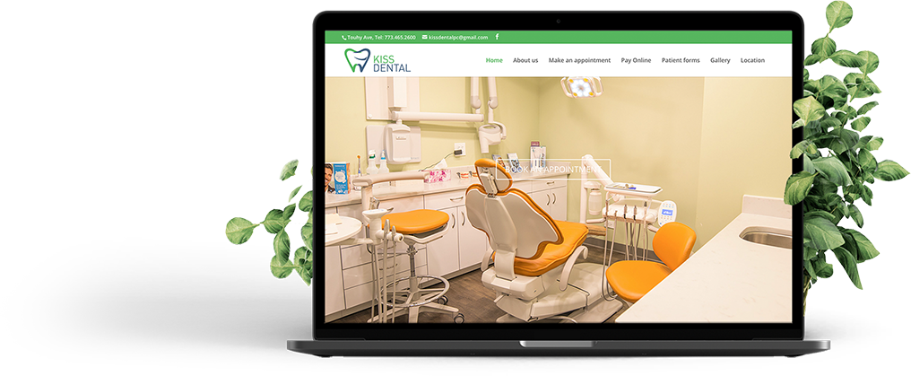 Recent projects - Kiss Dental website development