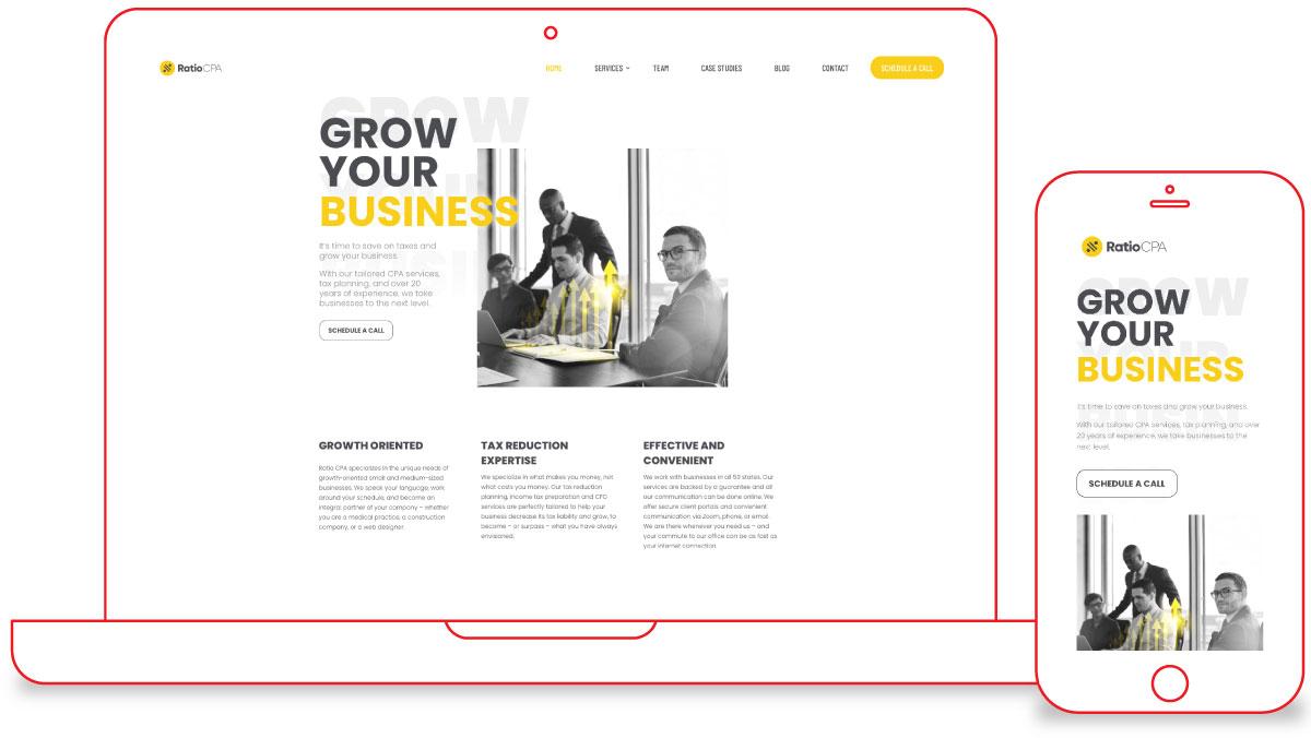 Ratio CPA Web Design