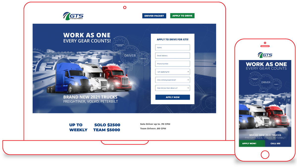 Web Design for Trucking Company